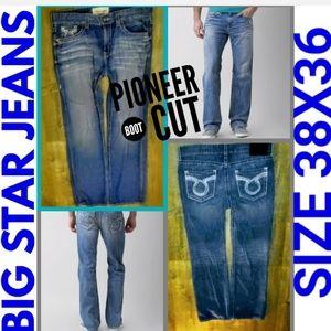 Big Star Jeans Size 38X36 Pioneer Boot Cut EUC